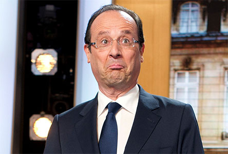 François HOLLANDE surpris