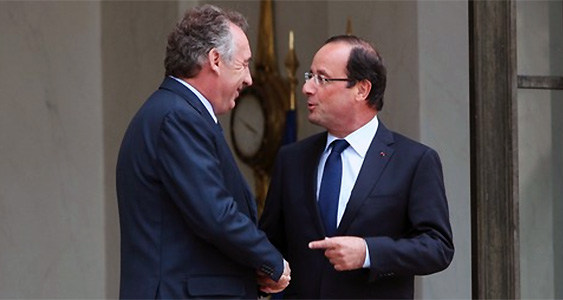 Hollande bayrou modem ps